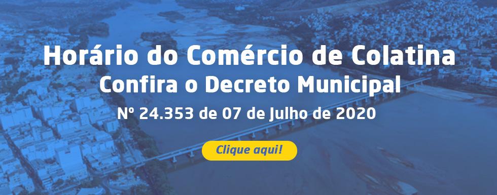 Decreto Municipal 24.352 - Funcionamento dos Supermercados