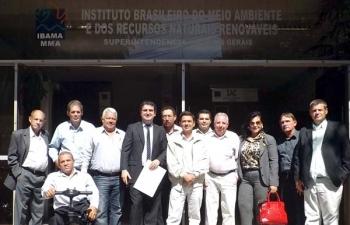 Vereadores e prefeito fazem reunião no Ibama em  BH para reivindicar obras compensatórias da Usina