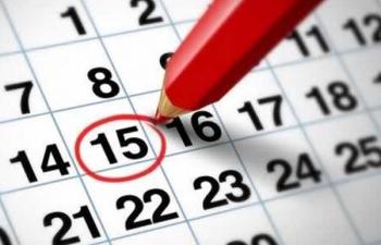 Calendário de Sessões - 1º Semestre 2015
