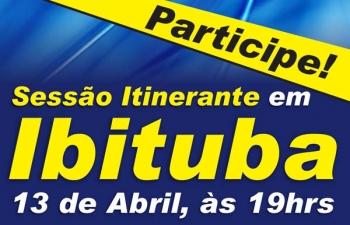 Câmara realiza sessão itinerante em Ibituba