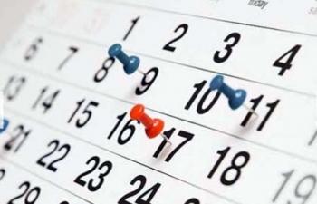 Calendário de Sessões - 2º Semestre de 2015