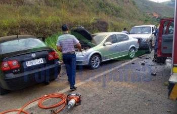Vereador sofre acidente grave dirigindo carro da Prefeitura na BR 262, entre Realeza e Manhuaçu