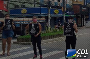 Lojistas de Colatina fizeram Protesto Pacífico no Centro da Cidade em prol do comércio